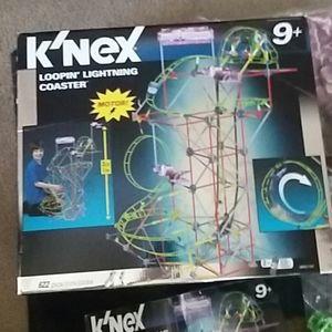 K'Nex loopin lightning coaster motorized